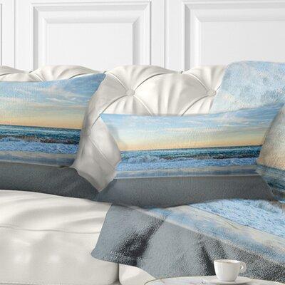 Splashing Scene Beach Seashore Pillow Size: 12 x 20, Product Type: Lumbar Pillow