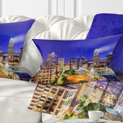 Charlotte North Carolina Cityscape Pillow Size: 12 x 20, Product Type: Lumbar Pillow