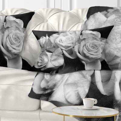 Bunch of Roses Floral Pillow Size: 12 x 20, Product Type: Lumbar Pillow