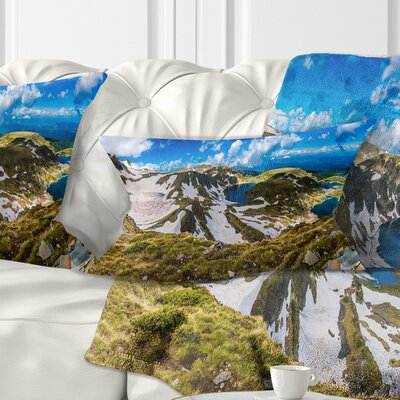 Clouds over Seven Rila Lakes Landscape Printed Pillow Size: 12 x 20, Product Type: Lumbar Pillow