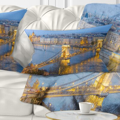 Chain Building and Parliament Pillow Size: 12