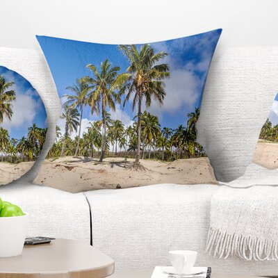 Anakena Beach in Easter Island Seascape Pillow Size: 26 x 26, Product Type: Euro Pillow
