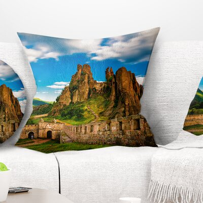 Belogradchik Fortress and Cliffs Bulgaria Landscape Printed Pillow Size: 26