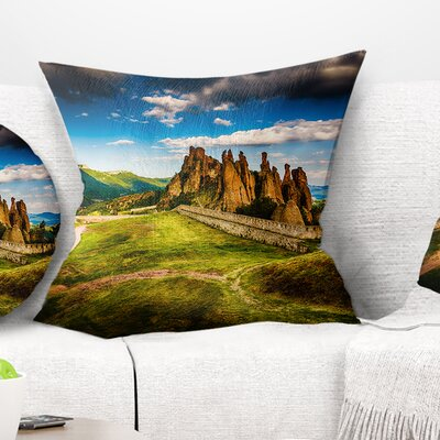 Belogradchik Fortress and Cliffs Landscape Printed Pillow Size: 26 x 26, Product Type: Euro Pillow