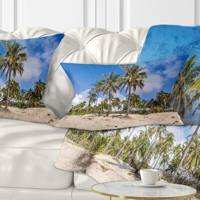Anakena Beach in Easter Island Seascape Pillow Size: 12 x 20, Product Type: Lumbar Pillow