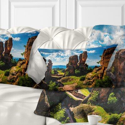 Belogradchik City Fortress and Cliffs Landscape Printed Pillow Size: 12