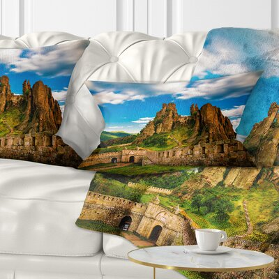 Belogradchik Fortress and Cliffs Bulgaria Landscape Printed Pillow Size: 12