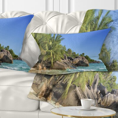 Anse Lazio Praslin Island Seychelles Seashore Pillow Size: 12 x 20, Product Type: Lumbar Pillow