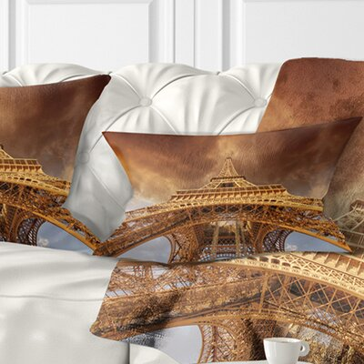 Beautiful View of Paris Eiffel Tower Size: 12 x 20, Product Type: Lumbar Pillow