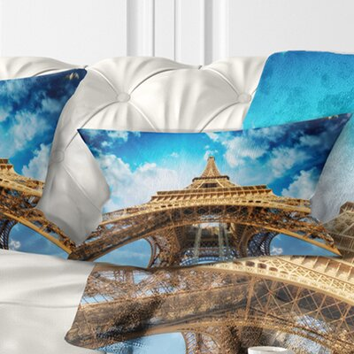 Beautiful View of Paris Eiffel Tower Pillow Size: 12 x 20, Product Type: Lumbar Pillow