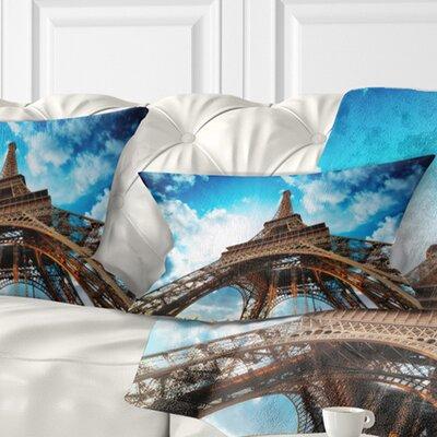 Beautiful Paris Paris Eiffel Towerunder Sky Cityscape Pillow Size: 12 x 20, Product Type: Lumbar Pillow