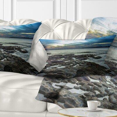Beautiful Dark Seashore Australia Cityscape Pillow Size: 12 x 20, Product Type: Lumbar Pillow