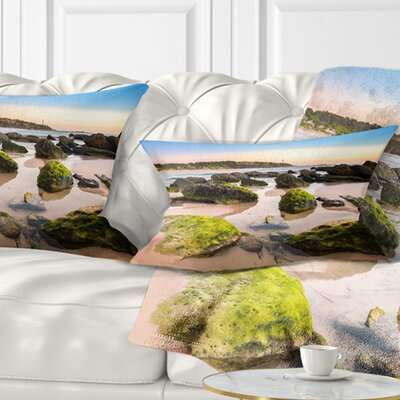Amazing Landscape at Noraha Head Seashore Pillow Size: 12 x 20, Product Type: Lumbar Pillow