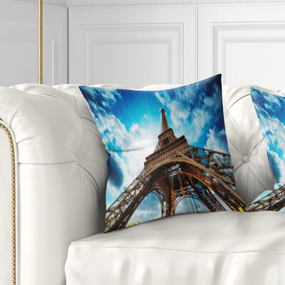 Beautiful Paris Paris Eiffel Towerunder Sky Cityscape Pillow Size: 16 x 16, Product Type: Throw Pillow