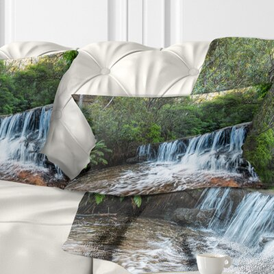 Beautiful Waterfall in New Australia Landscape Printed Pillow Size: 12 x 20, Product Type: Lumbar Pillow