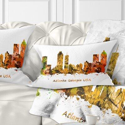 Atlanta Georgia Skyline Cityscape Pillow Size: 12 x 20, Product Type: Lumbar Pillow
