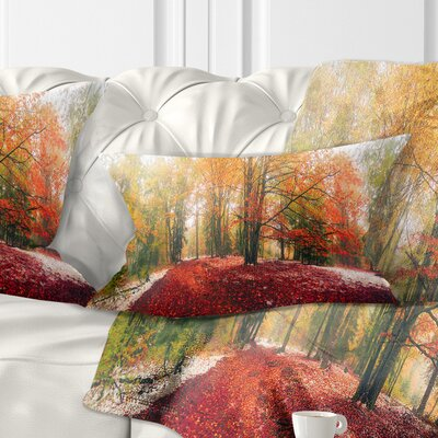 Alpine Forest After Snowfall Landscape Photo Pillow Size: 12 x 20, Product Type: Lumbar Pillow