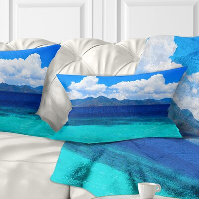 Beauty Beach Seascape Pillow Size: 12 x 20, Product Type: Lumbar Pillow