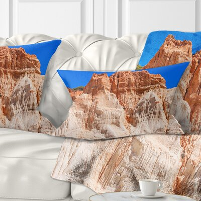 Algarve Beach in Portugal Landscape Printed Throw Pillow Size: 12 x 20, Product Type: Lumbar Pillow