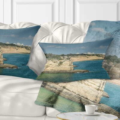 Armacao de Pera Algarve Beach Seascape Pillow Size: 12 x 20, Product Type: Lumbar Pillow