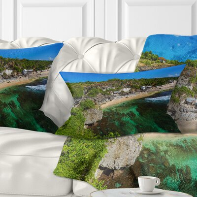 Balangan Beach Bali Indonesia Seascape Pillow Size: 12 x 20, Product Type: Lumbar Pillow