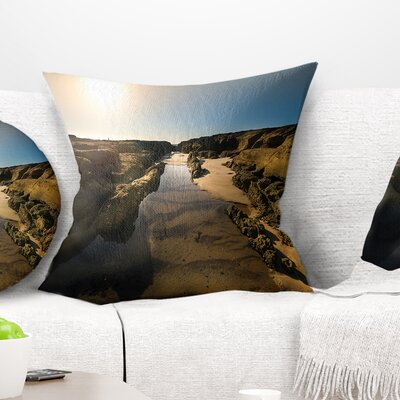 Beautiful Landscape at Norah Head Landscape Printed Pillow Size: 26 x 26, Product Type: Euro Pillow