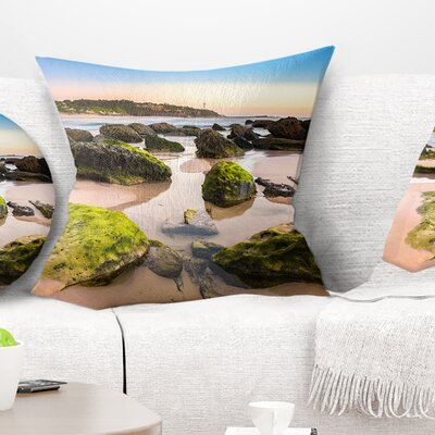 Amazing Landscape at Noraha Head Seashore Pillow Size: 16 x 16, Product Type: Throw Pillow