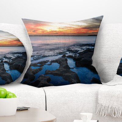 Beautiful Waters Size: 16 x 16, Product Type: Throw Pillow