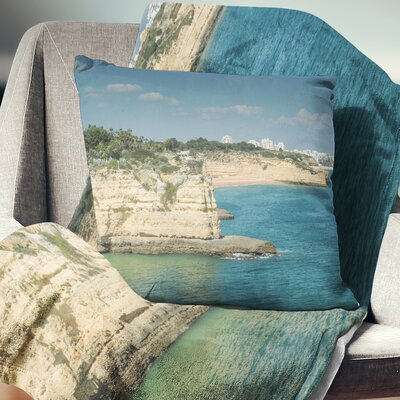 Armacao de Pera Algarve Beach Seascape Pillow Size: 26 x 26, Product Type: Euro Pillow
