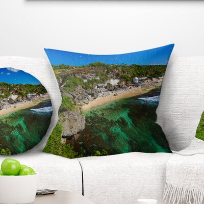 Balangan Beach Bali Indonesia Seascape Pillow Size: 18 x 18, Product Type: Throw Pillow