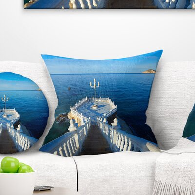 Benidorm Mirador Del Castillo Lookout Point Seascape Pillow Size: 18 x 18, Product Type: Throw Pillow