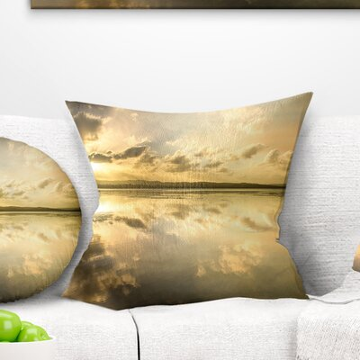 Amazing Foreshore Reserve Reflection Seashore Pillow Size: 18 x 18, Product Type: Floor Pillow