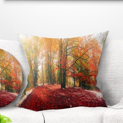 Alpine Forest After Snowfall Landscape Photo Pillow Size: 18 x 18, Product Type: Throw Pillow