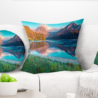 Beautiful Swiss Lake Obersee Landscape Photography Pillow Size: 26 x 26, Product Type: Euro Pillow