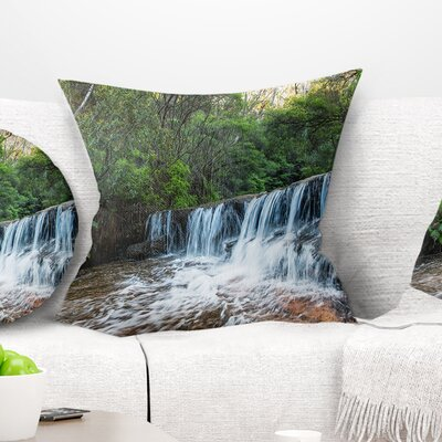 Beautiful Waterfall in New Australia Landscape Printed Pillow Size: 26 x 26, Product Type: Euro Pillow