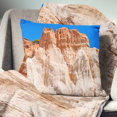 Algarve Beach in Portugal Landscape Printed Throw Pillow Size: 18 x 18, Product Type: Throw Pillow