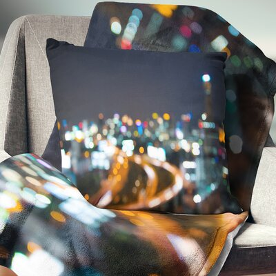 Bangkok City at Twilight Cityscape Pillow Size: 18 x 18, Product Type: Throw Pillow