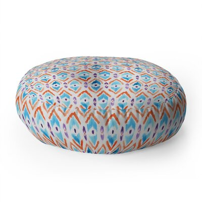 Wonder Forest Ikat Thought Round Floor Pillow