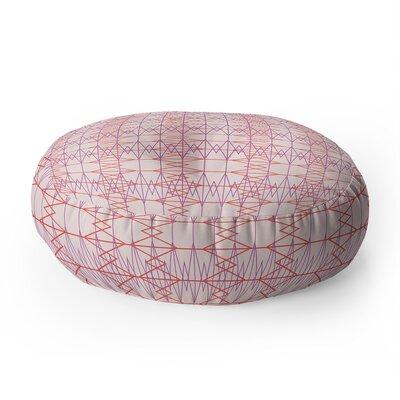 Zoe Wodarz Geo Stitch Plaid Round Floor Pillow