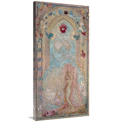 'Nude Woman Near Lake' Print on Canvas 843C58D8B61A451BB4CFA26A370A3180