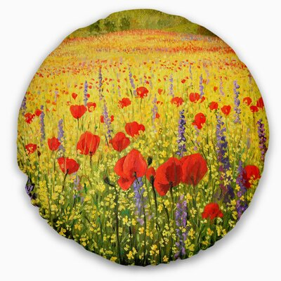 Landscape Sea of Blossom Throw Pillow B8776D1BCF854B1AAA6E6104C2B1BE93