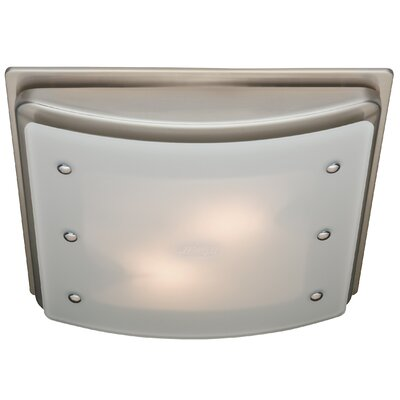 100 CFM Ellipse Bathroom Exhaust Fan with Light