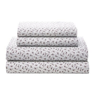 Scallop Scramble 180 Thread Count Sheet Set Size: Queen