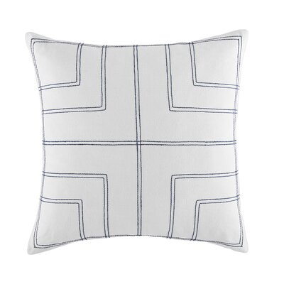 Robinson Stripe Quadrant Cotton Throw Pillow