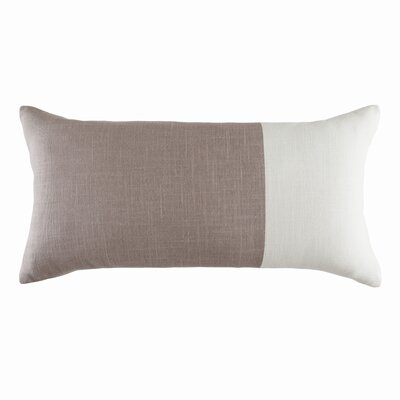 Block Island Cotton Colorblock Lumbar Pillow