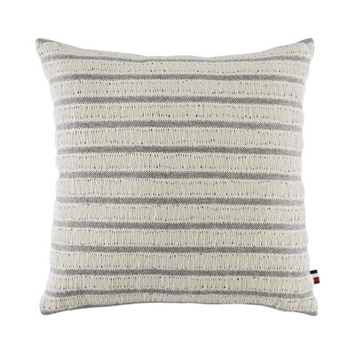 Oak Bluff Paisley Fishermans Stripe Cotton Throw Pillow