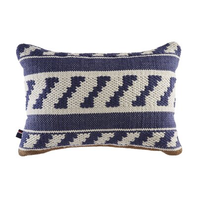 Madrona Ikat Stripe Cotton Lumbar Pillow