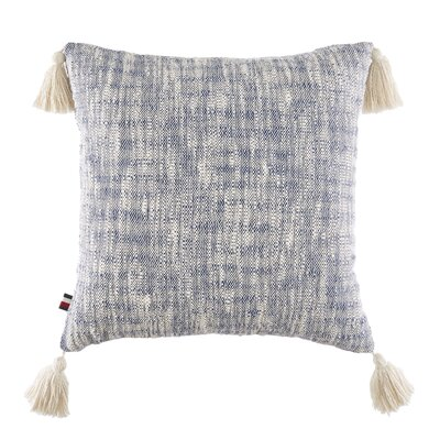 Thach Floral Distressed Dye with Tassels Cotton Throw Pillow