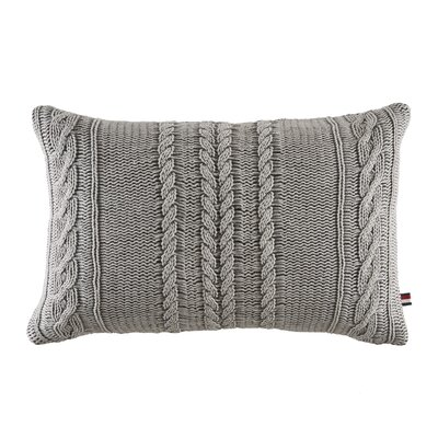Oak Bluff Paisley Sail Rope Knit Cotton Lumbar Pillow