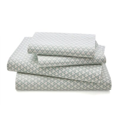 100% Cotton 4 Piece Sheet Set Size: King